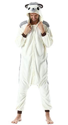 Pijama Animal Entero Unisex para Adultos con Capucha Cosplay Pyjamas Ropa de Dormir Kigurumi Traje de Disfraz para Festival de Carnaval Halloween Navidad Erizo