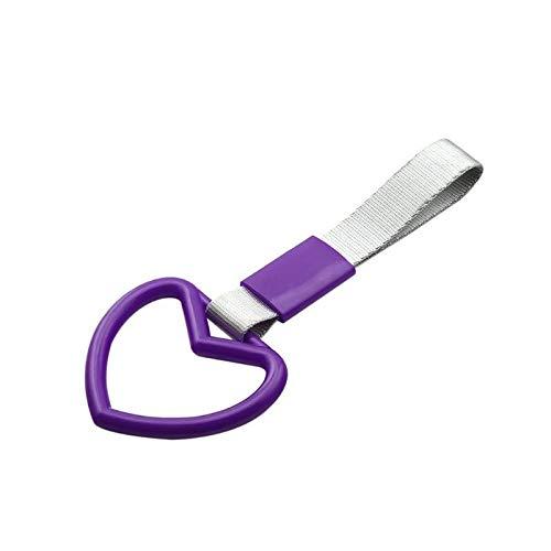Diverse 1 PCS Mango Auto Parts corazón del anillo de autobús tren de mano del cinturón Drift Drift Drift PVC con encanto robusto (Color : Purple)
