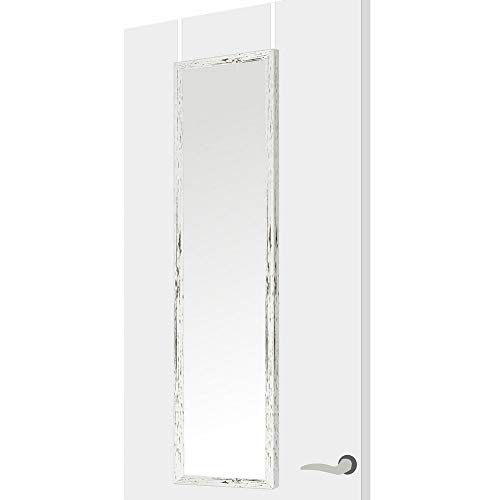 Espejo de Puerta nórdico Blanco de plástico para Dormitorio 35 x 125 cm. Bretaña - LOLAhome