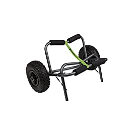 Perception Kayaks Large Kayak Cart with Foam Wheels - for use on sand/pavement, Black 7 Easily transport your kayak Flat-free tires are foam filled with all-terrain tread Compact folding design makes for convenient storage