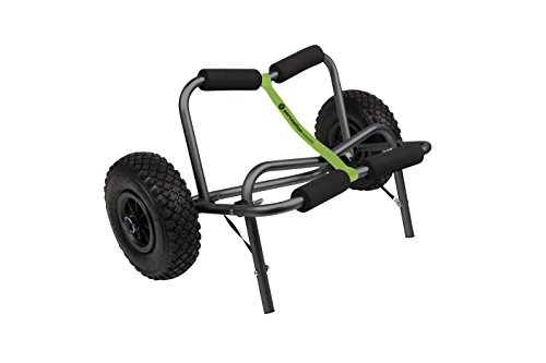 Perception Kayaks Large Kayak Cart with Foam Wheels - for use on Sand/Pavement, Black