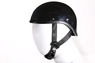 Shiny Black Gladiator Novelty Motorcycle Helmet (Size S,M,L,XL,2XL) (L, BLACK)