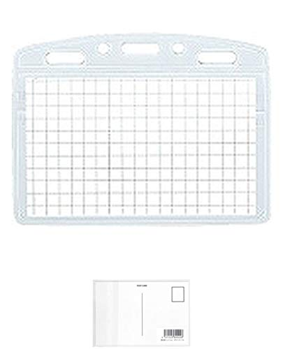 コクヨ ソフトケース アイドプラス チャック付 名刺・IDサイズ ナフ-C180 + 画材屋ドットコム ポストカードA