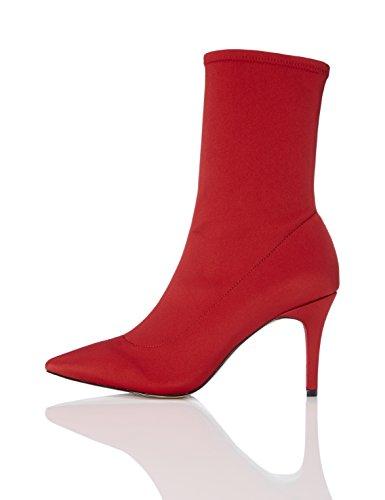 find. Bottines Chaussettes Talons Aiguille Femme, Rouge...