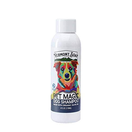 Vermont Soap Organics Pet Shampoo - Infused with Organic & Natural Olive Oil, Coconut & Aloe Vera Dog Shampoo for Sensitive Skin - USDA Certified Grooming Pet Shampoo - 16 Fl.oz