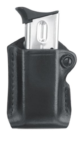 Gould & Goodrich B830–4Gold Line Magazine case (Black) Fits Beretta Cougar (ALL); Glock 17, 19, 20, 21, 22, 23, 26, 27, 29, 30, 31, 32, 33, 34, 35, 36, 39; H& K USP 9, .357,.40,.45(ALL); Kimber Polymer; para-ordnance P10, P12, P13, P14, P15, P16(ALL); S & W Sigma (ALL except .380), SW m & P .45; Springfield XD4.40, .45, .357