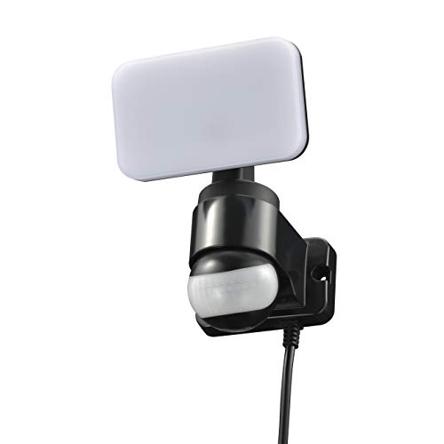 オーム電機 リモコン付きLEDセンサーライト(1灯/600lm/コンセント式/保護等級IP44[防まつ]/ブラック) R-LS600