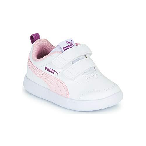 PUMA COURTFLEX V2 V INF, Zapatillas Unisex Bebé, White/Pink Lady, 26 EU