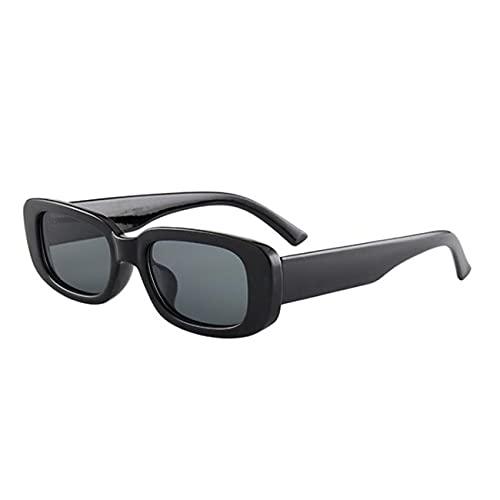 Uniqueheart Gafas de Sol Personalizadas Retro de Marco pequeño Europeas y Americanas de Moda polarizadas de Alta definición - Negro + Gris