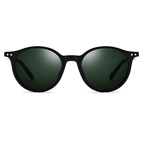 SSM Gafas de Sol Classic Placa Black M Gafas de Sol Polarizadas Femeninas Redondas Redondas Gafas de Sol Uv400 Protección Clásico