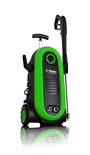 Power 2200PSI New Upgraded Electric Pressure Washer 1.76 GPM - BRUSHLESS Induction Technology - 4X More Lifespan and Ultra Low Sound - Professional Power Washer Machine for Cleaning (Green)