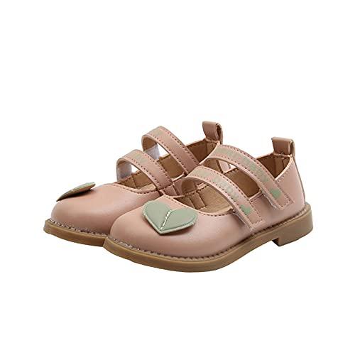 Zapatos de Cuero para niños Ligeros Antideslizantes Suela Suave Punta Redonda Zapatos de Princesa cómodos Informales para Fiestas Mary Jane Flats