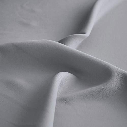 TOLKO Modestoff | Dekostoff universal Stoff zum Nähen Dekorieren | Blickdicht, knitterarm | 150cm breit Meterware Bekleidungsstoffe Dekostoffe Vorhangstoffe Baumwollstoffe Basteln Patchwork (Grau)