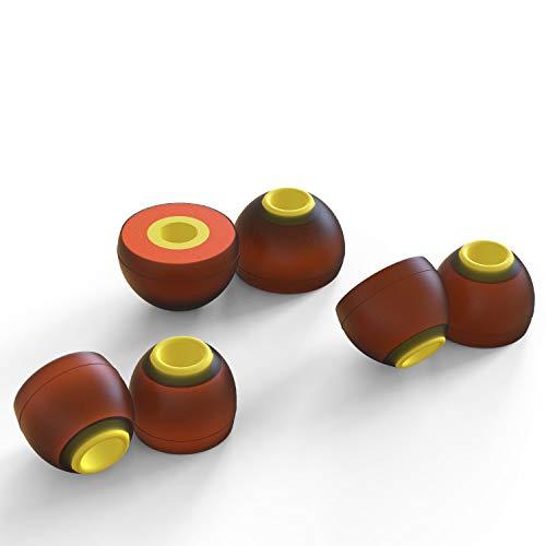 sciuU Memory Foam Almohadillas para Auriculares, Espuma con Memoria, Universal 4,5mm para Auriculares Intrauditivos, Mejora Acústica & Reducción de Ruido, 3 Pares en Diferentes tamaños, L+M+M