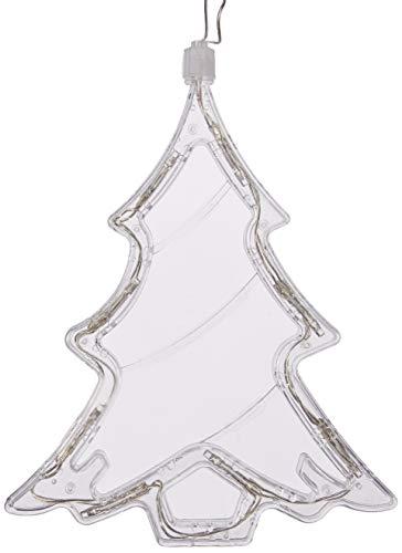 Perfect Holiday - Lámpara LED para Ventana (Funciona con Pilas, árbol de Navidad)