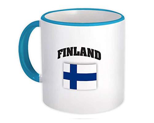 Finlandia : Regalo Jarra : Bandera Chest Finnish Expat Country Patriotic Flags Travel Souvenir