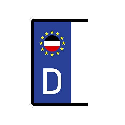 Generisch 2 Stück Kennzeichenaufkleber Deutsches Kaiserreich Reich Set Flaggen Aufkleber | Sticker Plakette Deutschland Germany Autoaufkleber