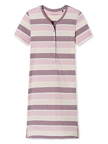 Schiesser Damen Sleepshirt 1/2 Arm, 95Cm Nachthemd, Rot (Beere 512), 48 (Herstellergröße:048)