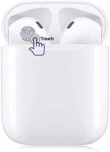 Bluetooth Kopfhörer,In-Ear Kabellose Kopfhörer,Bluetooth Headset,Sport-3D-Stereo-Kopfhörer,mit 24H Ladekästchen und Integriertem Mikrofon Auto-Pairing für Samsung/iPhone/Android/Airpod (Weiß)