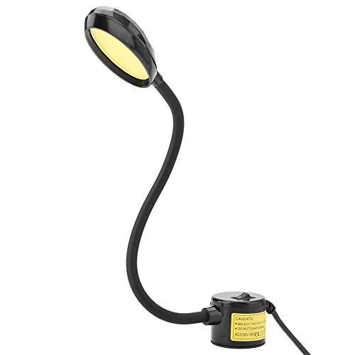 Akozon Luz de costura Lámpara de la máquina de coser 8W COB Lámpara de costura LED Base magnética ajustable 110-265V Certificación CE(EU)