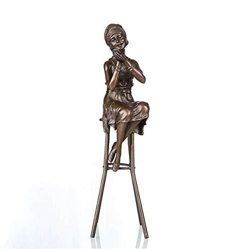 AIJOAN-BJ Tierfiguren & Tierstatuen Statuen Dekoration Reine Bronze Tragen Lippenstift Frauen Skulptur Kunst Weibliche Statuen Figur Dekoration Zubehör