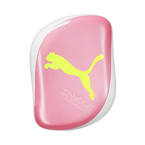 Tangle Teezer Puma, Cepillo para desenredar compacto Styler, color amarillo neón