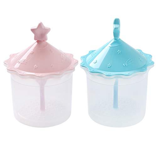 2pcs Facial Cleansing Foamer Manual Shower Gel Foam Making Cup Bubbler Maker for Washroom (Random Color)