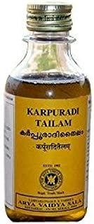 Karpooradi Oil - Karpuradi Thailam - Arya Vaidya Sala - 200ml - Exclusively by American Indian Imports