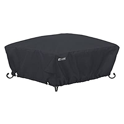 Classic Accessories 55-556-010401-00 Water-Resistant 36 Inch Square Fire Pit Cover,Black,36""