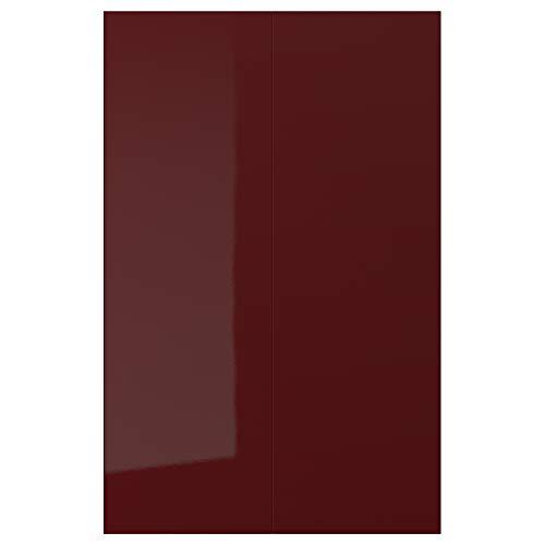KALLARP - Juego de armario con base de esquina (62 x 80 cm), color rojo y marrón oscuro