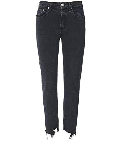 AGOLDE Damen Toni Mitte steigen gerade Bein Jeans Schwarz 29