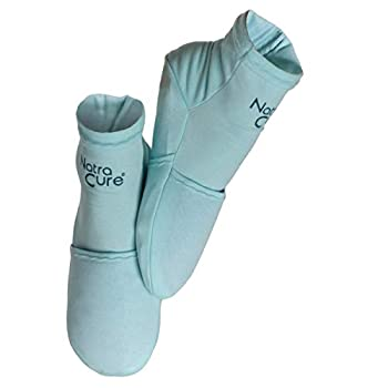 NatraCure Cold Therapy Socks - Reusable Gel Ice Frozen Slippers for Feet Heels Swelling Edema Arch Chemotherapy Arthritis Neuropathy Plantar Fasciitis Post Partum Foot Size  Small/Medium