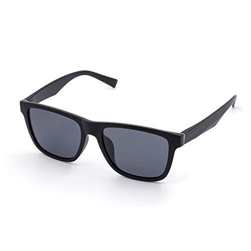 PERXEUS BREMEN - Gafas de Sol para hombre. Ligeras y Resistentes - Protección UV400 + Lentes Polarizadas. [Negro Mate]