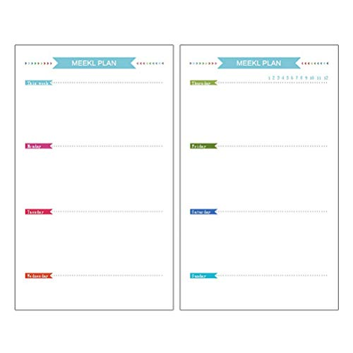 STOBOK A6 6 Löcher Nachfüllpapier Refill Papier für A6 Ringbuch Notebook Journal täglich wöchentlich monatlichen Plan Liste einfügen Papiere 160 Blatt