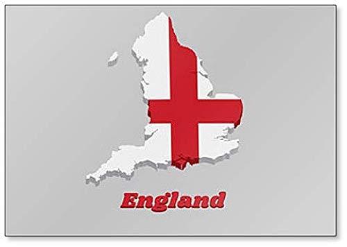 Kühlschrankmagnet, Motiv Karte & Flagge von England