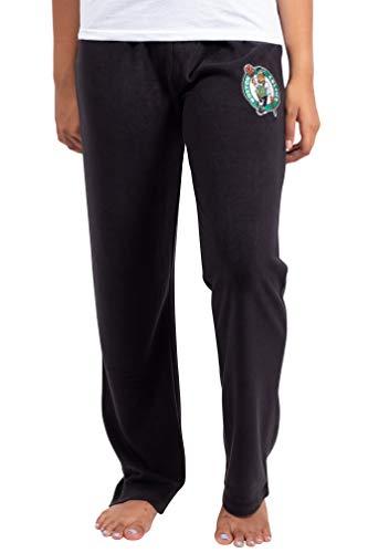 Ultra Game NBA Schlafanzug für Damen, superweich, Plüsch, Damen, Women's Sleepwear Super Soft Plush Pajama Loungewear Pant, schwarz, X-Large