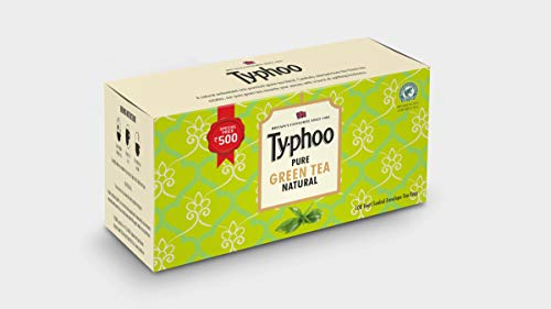 Typhoo Pure Natural Green Tea Bags, 100 Bags