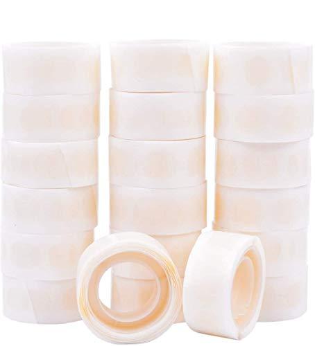 GCOA Globo Pegamento 2500 Piezas (25 Rollos) Puntos de Doble Cara de Pegamento Cinta Adhesiva de Punto Adhesiva extraíble Pegamento no líquido para Fiestas, Bodas, Globos Decoración