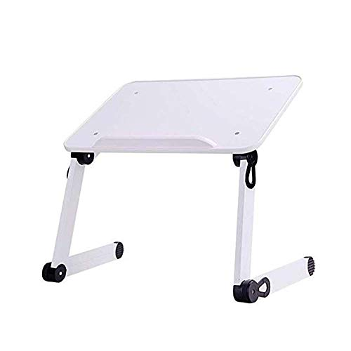 Kaidanwang Housewares Folding Table Simple Small Table/Laptop Desk Bed, College Dormitory Lazy Folding Stand Bed Small Desk, Portable Folding Table for Easy Storage