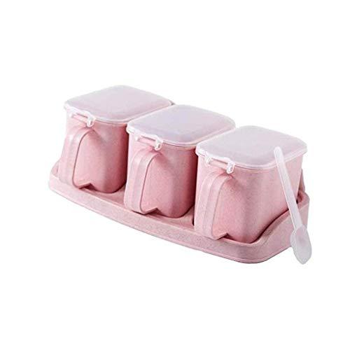 YYAI-HHJU Caja De Condimentos Múltiples, Frasco De Condimentos De Plástico, Caja De Condimentos para Botellas De Condimentos para El Hogar De La Cocina