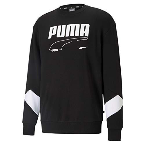 PUMA Rebel Crew TR Sudadera, Hombre, Puma Black, XL