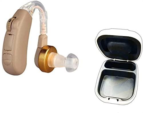 AUDIENCIA AMPLIFICADORES DE SONIDO Ayuda a par en los tapones para el oído Invisibles Mini Micro Dispositivos con baterías de cancelación de ruido digital Caja de almacenamiento Caja de secado Cápsula