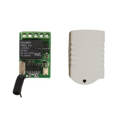 JSFQ Elektrische apparatuur. Computer auf Aus-Taste Fernbedienung Schalter 5V 6V 9V 12V Relaiskontakt Push Button RF...