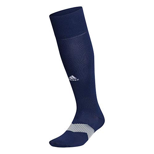Adidas - Calzini da calcio unisex Metro 5 per adulti, 1 paio, Unisex - Adulto, OTC Sock-Team, Metro 5 Soccer Socks (1-pair), Team Blu navy/grigio chiaro/bianco, X-Small