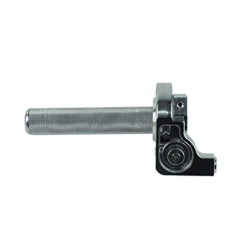 XueQing Pan 22 mm CNC terreindebiefwiel auto beperkt grote olie grote schroef olieleiding aluminium smoorklepgreep zilver