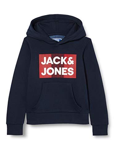 Jack & Jones Junior Jjecorp Logo Sweat Hood Noos Jr Sudadera con Capucha para Hombre