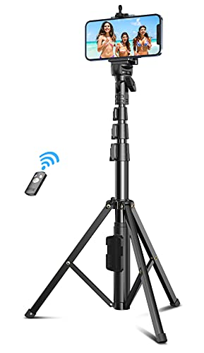Babacom Phone Tripod, 133cm Extendable Stable Selfie Stick with Detachable...