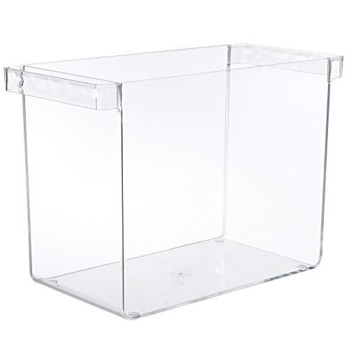 STORi Clear Plastic Hanging File Organizer with Handles