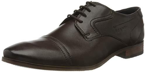 bugatti 3.13151E+11, Zapatos de Cordones Derby Hombre, Marrón (Dark Brown 6100), 42 EU