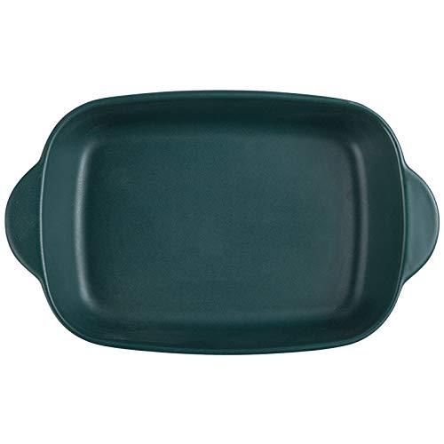 LANJ Plaque de cuisson rectangulaire pour four à micro-ondes - Plaque de cuisson en céramique - 20,3 cm
